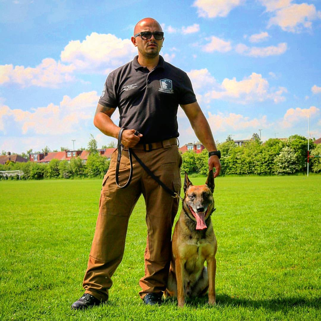 Security dog handler